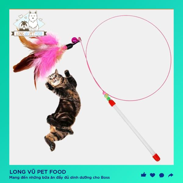 Cần câu đồ chơi cho thú cưng, đồ chơi cho chó, đồ chơi cho mèo, đồ thú cưng - Long Vũ Pet Food