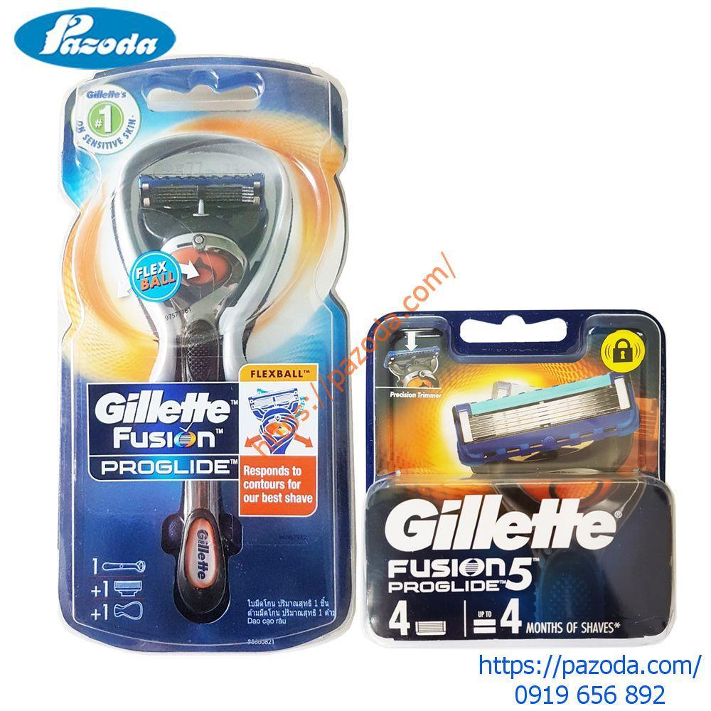 Combo dao cạo râu và hộp 4 đầu cạo Gillette Fusion5 Proglide (1 cán + 1 đầu cạo gắn sẵn và 4 đầu cạo dự phòng) cao cấp