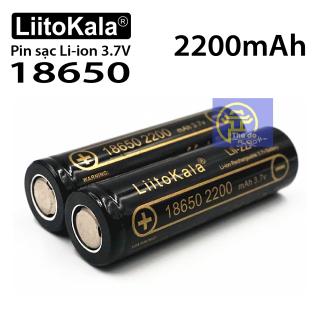 01 Pin sạc LiitoKala Lii-22A Pin Lithium-ion 3.7V 18650 2200mah cao cấp thumbnail