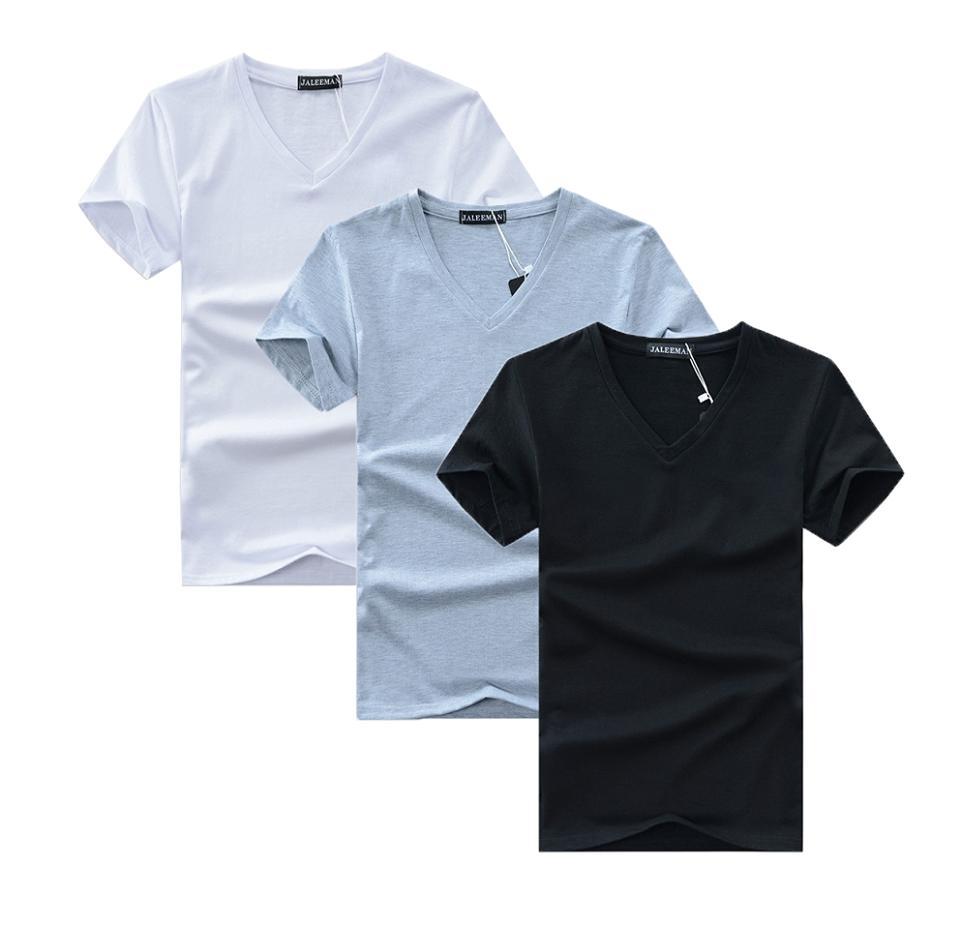 Voucher Khuyến Mãi Combo 3 áo Thun Nam Body Cổ Tim Vải Dày Mịn, Thoáng Mát Phong Cách Hàn Quốc ( đen/ Trăng/ Xám )