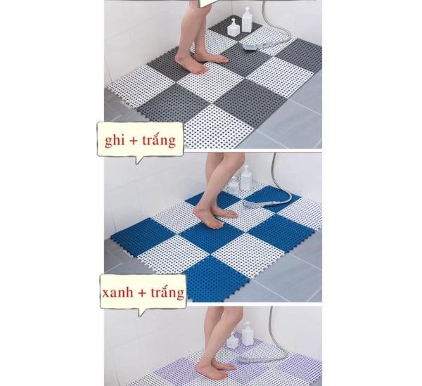 Thảm nhựa chống trơn trượt nhà tắm.