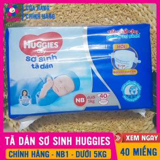 Tã Dán Sơ Sinh Huggies Newborn Size XS 40 MIẾNG, Cho Bé Dưới 5Kg, Siêu Thấm, Chống Tràn Tốt - Tã Dán Cho Trẻ Sơ Sinh, Tả Bỉm Dán, Ta Bim Dan Cho Be, Tả Dán Huggies NB, Bỉm Dán Sơ Sinh - Tả Dán Huggies Size XS - TẶNG TĂM BÔNG thumbnail