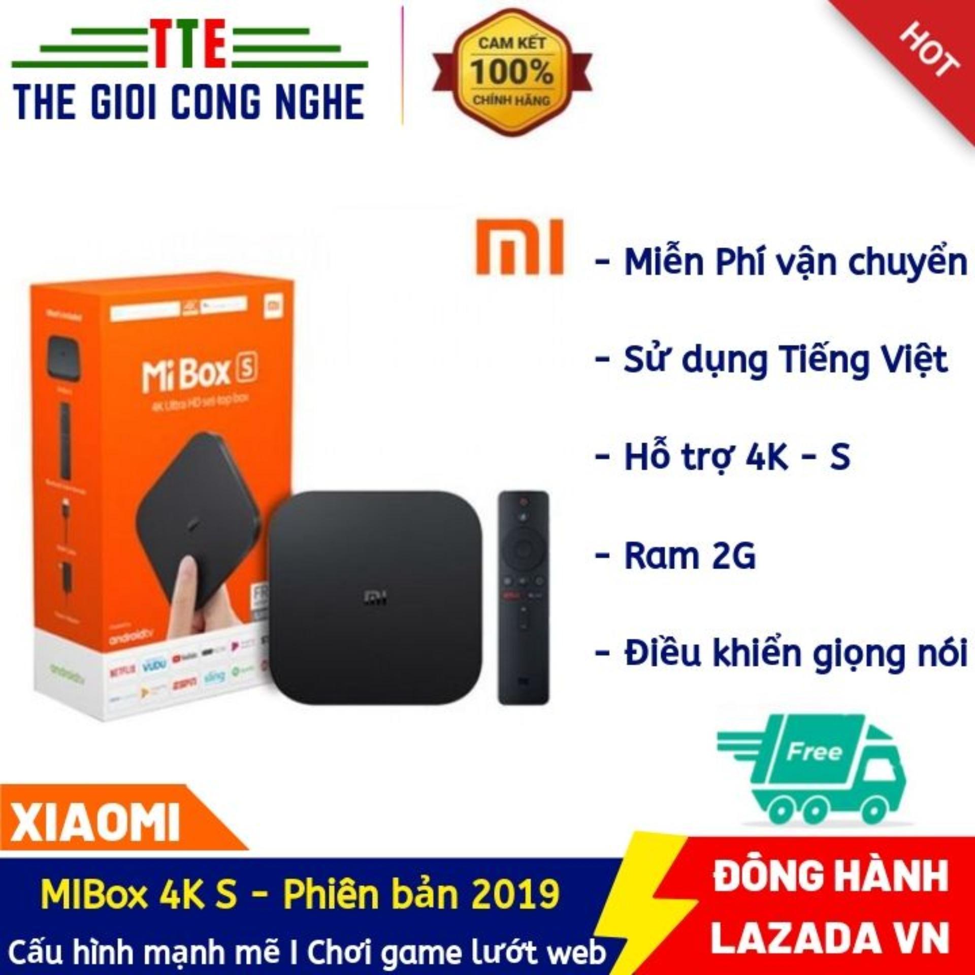 Bảng giá Android Tivi Box Xiaomi Mibox 4K Ultra HD set-top box Global Quốc Tế Tiếng Việt