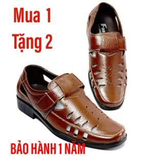 Giày rọ nam da bò cao cấp (NÂU) thumbnail