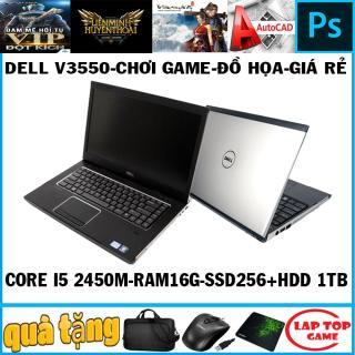 Dell V3550 chơi game đồ họa Core i5 2450M Ram 16G SSD256+ HDD 1TB MÀn 15.6in dòng vostro cao cấp và bền bỉ thumbnail