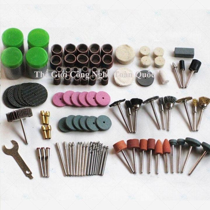bộ phụ kiện mài khắc đánh bóng 161 chi tiết mini - máy mài khắc mini