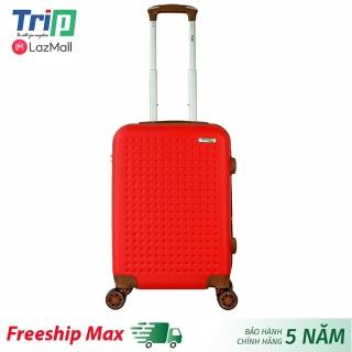 [Hỗ trợ phí Ship] Vali TRIP P803A size 20inch (Màu đỏ) - Vali du lịch size xách tay lên máy bay, 2 dây kéo nới rộng khoang hành lý thumbnail