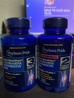 Viên uống hỗ trợ xương khớp, chắc xương Puritan s Pride Triple Strength Glucosamine, Chondroitin & MSM 60 viên 06 2023 thumbnail