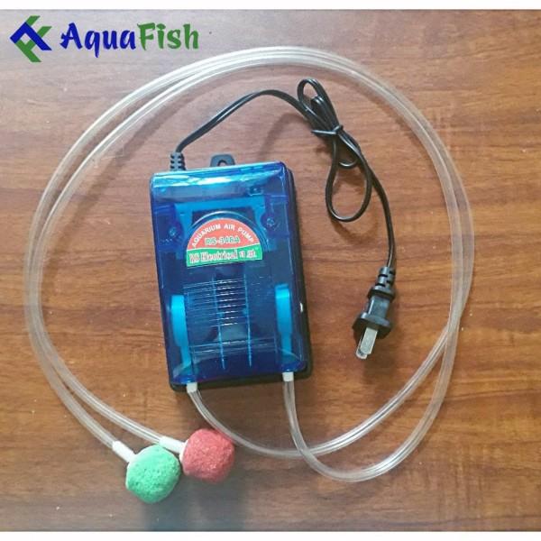 Máy Sủi Khí Oxy Bể Cá 2 vòi RS 348A (Tặng kèm 2 dây sủi + 2 quả sủi)