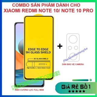 Combo Xiaomi Redmi Note 10 Redmi Note 10 Pro 5G kính cường lực full màn hình + dán bảo vệ camera chống trầy xước bụi bẩn thumbnail