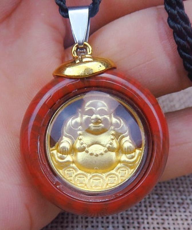 [LOẠI KHÔNG BAY MÀU]Mặt dây Chuyền hình Phật Bà Quan Âm, Di Lặc, Mạ Vàng 24k, Thích hợp cho Nam, Nữ Người Lớn, Trẻ em LXGDCMP02