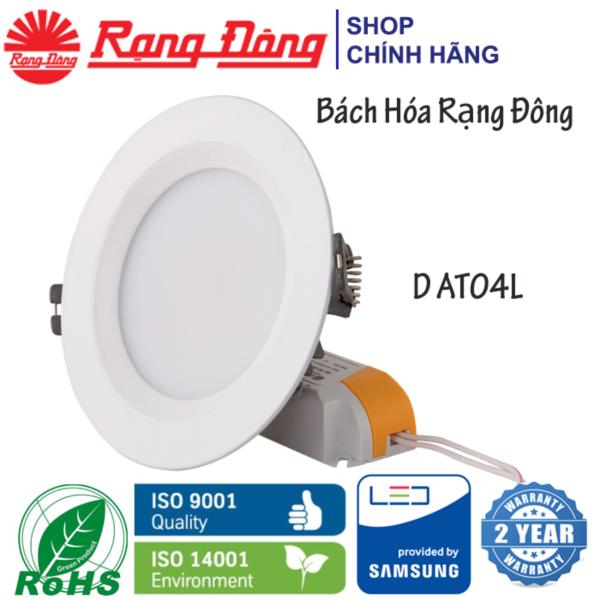 Bộ 12 Đèn LED âm trần Rạng Đông 7W Փ90, Vỏ NHÔM ĐÚC, siêu tản nhiệt, SAMSUNG chipLED