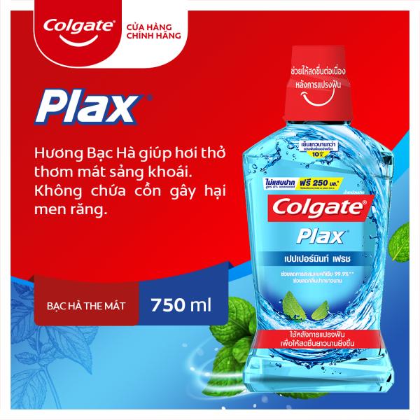Nước súc miệng Colgate diệt 99% vi khuẩn Plax bạc hà 750ml