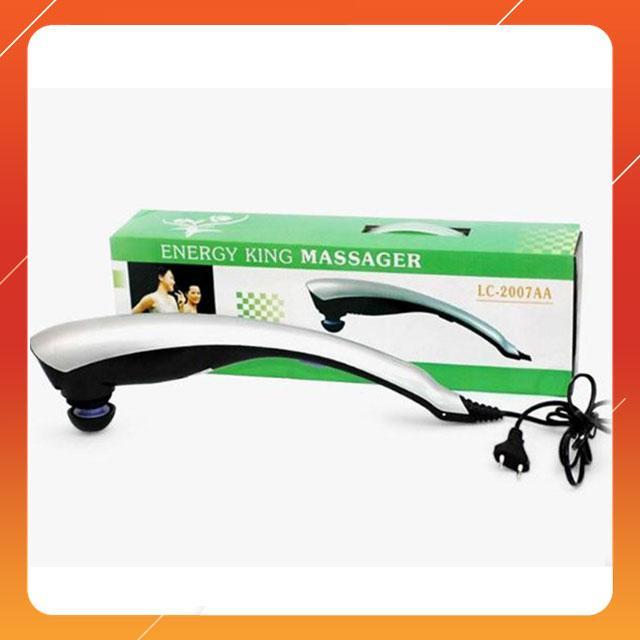 Máy massage cầm tay, matxa lưng thư giãn giảm đau nhức cổ vai gáy, máy đấm lưng, mát xa chân, bụng toàn thân Energy King LC 2007AA