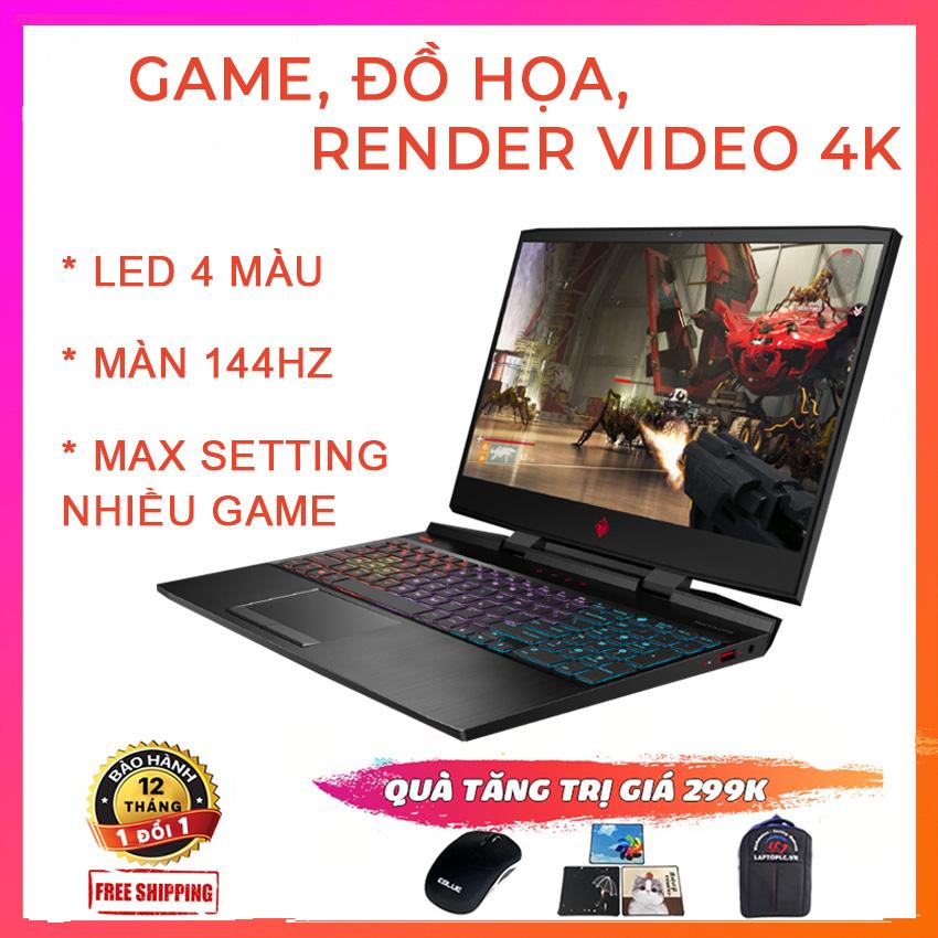 HP Omen 15 2019 Chuyên Gaming, Đồ Họa, Render Video 4K, i7-9750H, RAM 16G, SSD NVMe 256G, VGA NVIDIA GTX 1660 Ti-6G, màn 15.6 FullHD IPS, 144Hz, Viền Siêu Mỏng