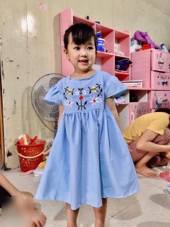 váy cánh tiên siêu xinh cho bé gái 10-20kg - chất thô lụa mát rượi thumbnail