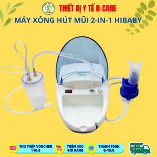 Máy xông hút mũi họng 2 trong 1 Dotha HiBaby, tạo khí dung xông mũi họng , hút sạch đờm nhớt mũi trẻ em - Hàng Việt nam sản xuất tại Hải phòng [TBYT H-Care] thumbnail