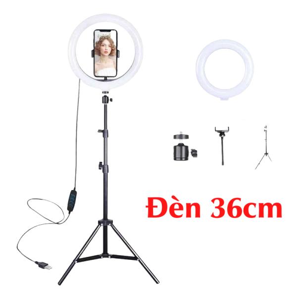 Bảng giá [Đèn livestream 36cm] hỗ trợ chụp ảnh, make up 3 chế độ sáng