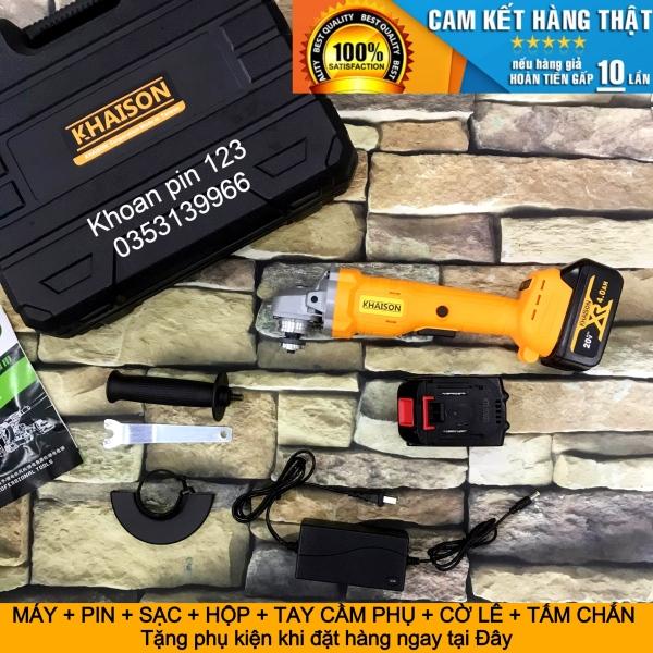 Máy mài pin, máy cắt pin không chổi than pin dung lượng cao hàng chuẩn Khaison