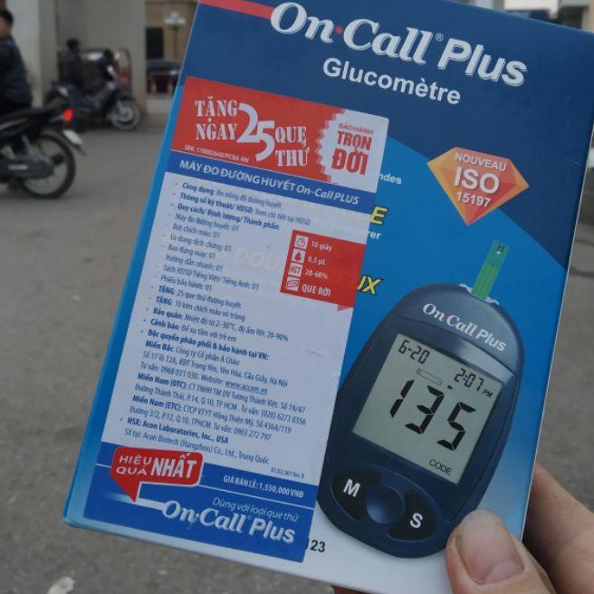máy test đường huyết on call plus cao cấp