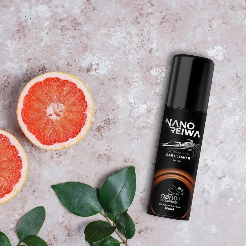 Diệt khuẩn, khử mùi ô tô Nano Reiwa Premium 100ml - Hương bưởi