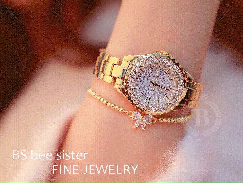 Nơi bán Đồng hồ Nữ BS (Bee Sister 13X) thời trang cao cấp [Billux] dây kim loại - 32mm (2 màu) [BSSMT004]