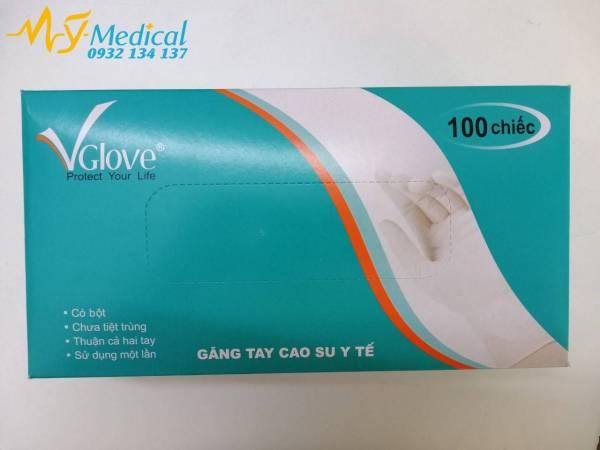 Găng tay y tế có bột Vglove