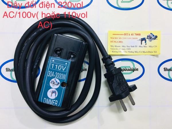 Bảng giá Dây Mạch cản điện 3000W tiện dụng - Biến Áp Chuyển Điện 220vol AC Ra 100v- 110V AC Phong Vũ