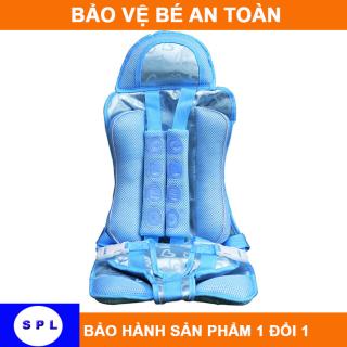 Ghế ngồi ô tô cho bé bảo vệ an toàn cho bé từ 9 tháng - 7 tuổi (dưới 25kg) XANH -HỒNG thumbnail