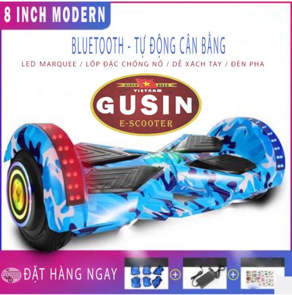 Giá bán xe cân bằng điện 8 inch GUSIN / xe cân bằng thế hệ mới nhất , loa bluetooth, đèn led, phân phối xe cân bằng toàn quốc
