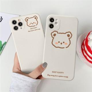 Ốp lưng iphone vuông gấu keep happy dành cho iphone 6 đến 12promax e07 shincase thumbnail