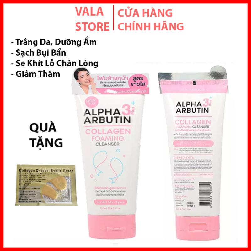 Sữa rửa mặt Alpha Arbutin Collagen Foaming Cleanser, Trắng Da, Dưỡng Ẩm, Sạch Xâu Thái Lan-120ml
