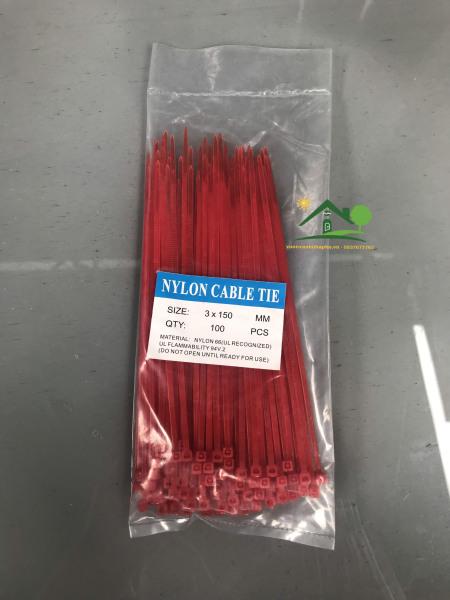 Dây rút nhựa màu đỏ 2.5x150mm