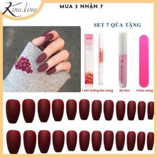 [TẶNG KEO ] Set 24 móng tay giả cao cấp- Có hơn 30 mẫu móng tay từ sang trong tới kute- KinaKino thumbnail