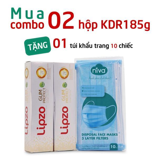 [Tặng] 01 Túi Khẩu Trang Niva 10 Chiếc Khi Mua 02 Kem Đánh Răng Gum Protect 185g