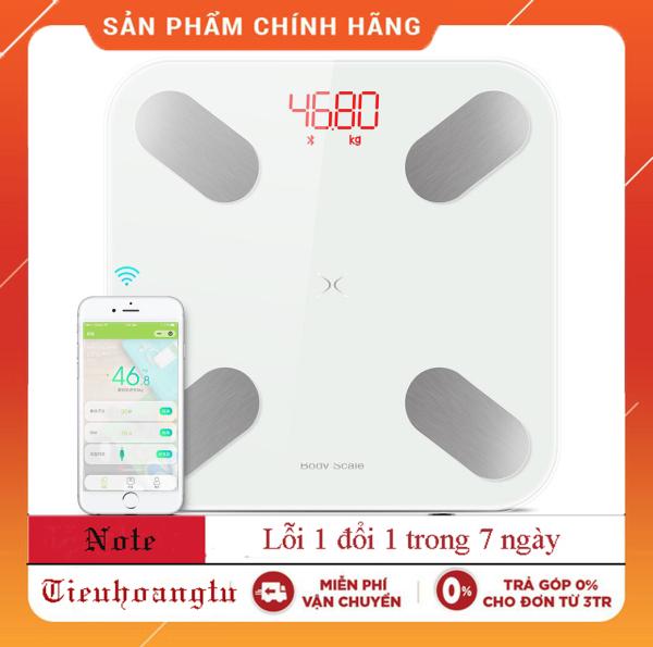 Cân sức khỏe và phân tích các chỉ số cơ thể Meilen XL-06 đo sức khỏe, cân nặng + Thước dây đo chiều cao (Màu Trắng Xanh)