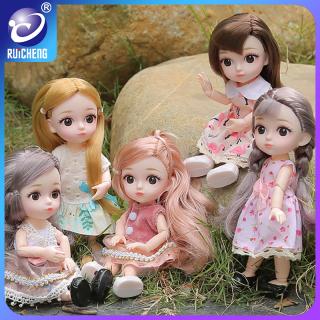 RUICHENG Đồ chơi búp bê barbie mặc đầm đáng yêu, làm quà tặng cho các bé gái - INTL thumbnail