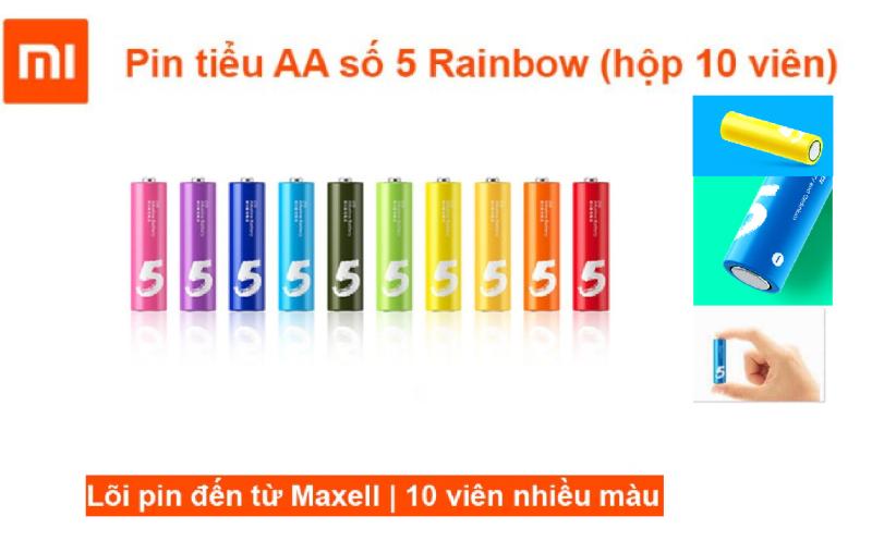 Hộp 10 pin tiểu AAA số 7, AA số 5 Xiaomi Rainbow
