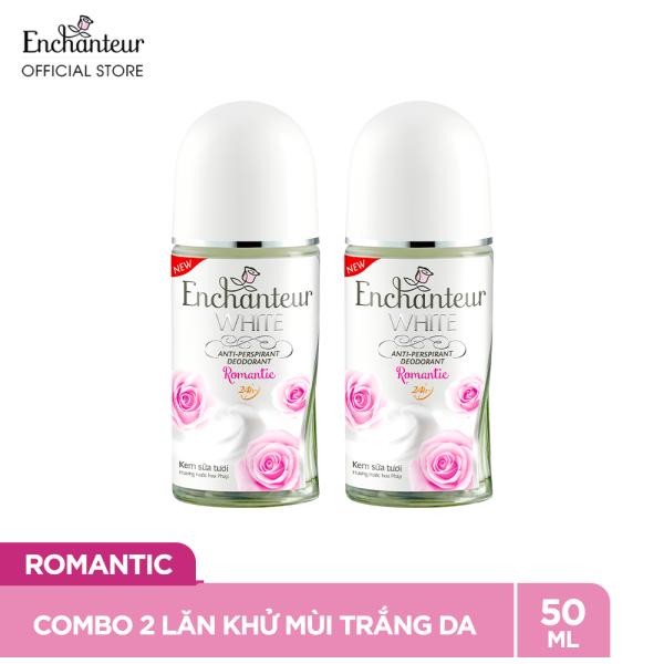 Combo 2 Lăn khử mùi trắng da Enchanteur Romantic 50ml/ Chai giá rẻ