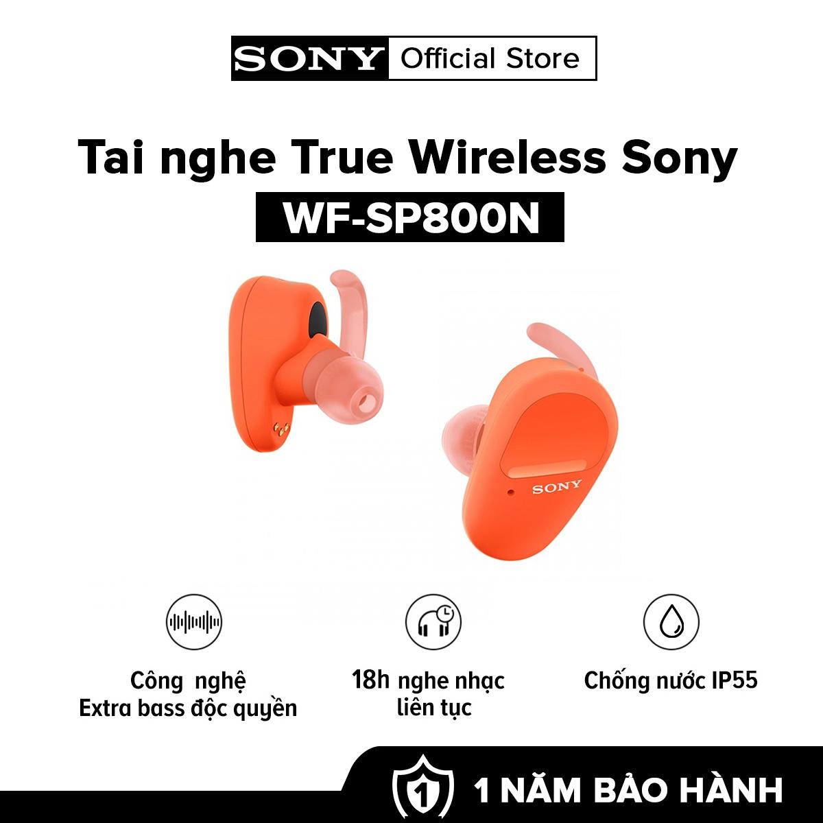 [VOUCHER 300K - TRẢ GÓP 0%] Tai nghe True Wireless Sony WF-SP800N  Bluetooth 5.0 l Công nghệ EXTRA BASS l Chống nước IP5 l Pin 18h