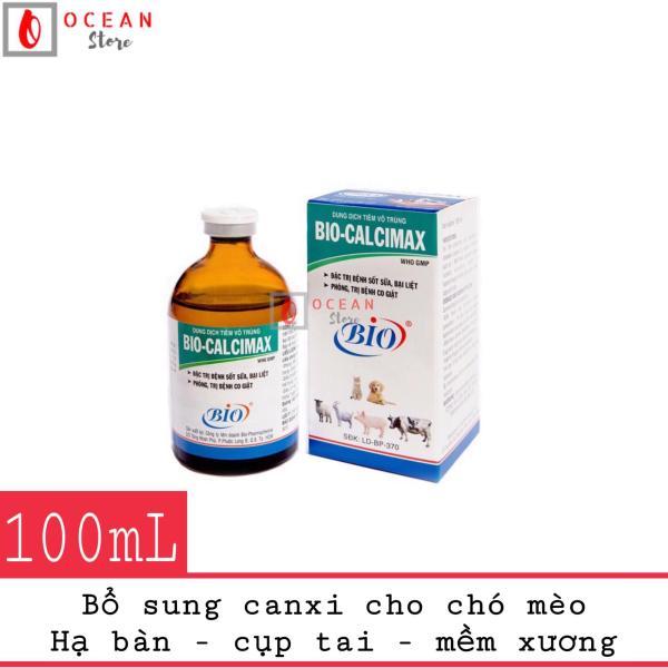 Thuốc tiêm bổ sung calci cho chó mèo han bàn, cụp tai, mềm xương - Bio Calcimax 100ml