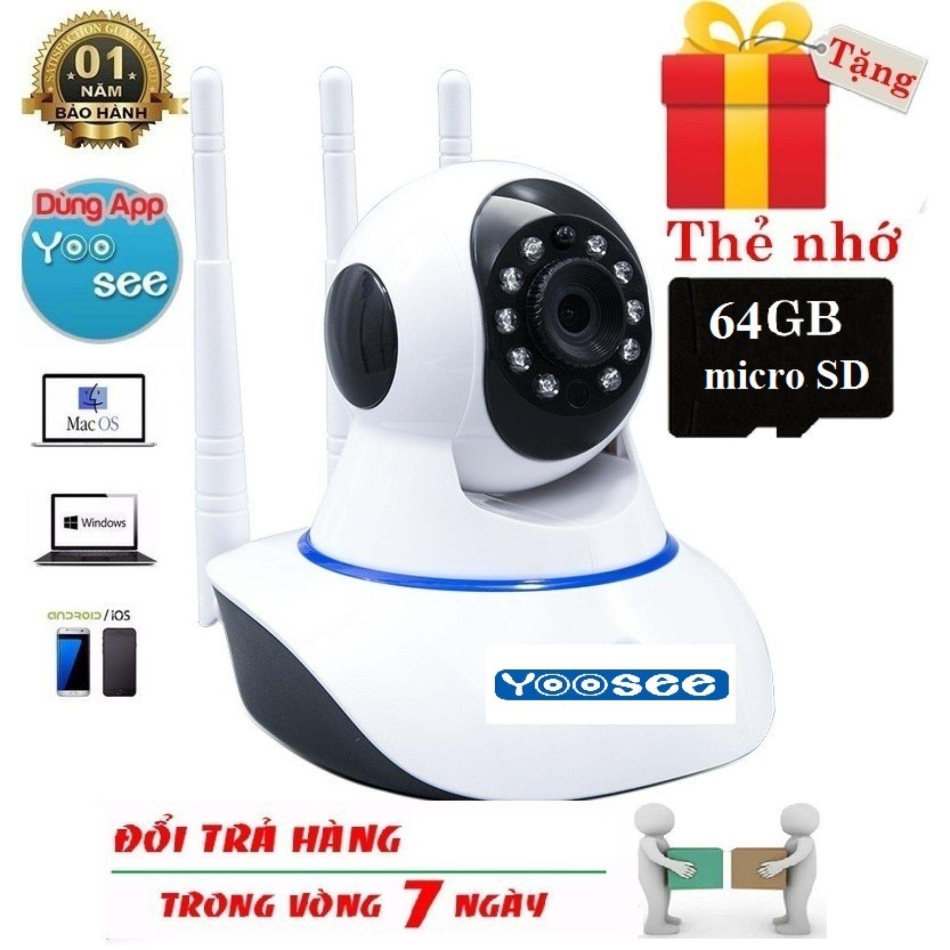 [ Tặng Thẻ Nhớ 64 Gb - Bh 12 Tháng - 1 Đổi 1 Trong 7 Ngày ] Camera Wifi - Yoosee Wifi SiÊu NÉt 2.0 Đàm Thoại 2 Chiều Quay 360 Độ Full Hd By Phu Kien Gia Tot 686.