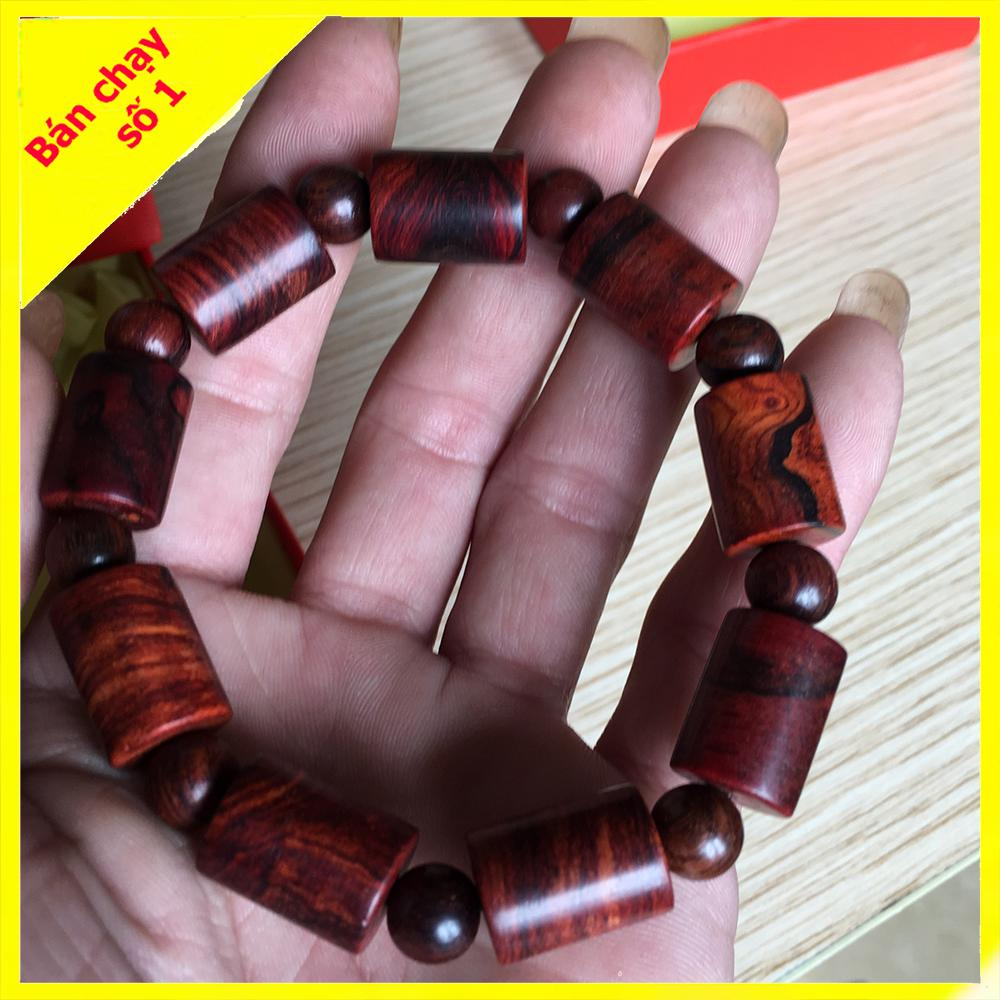 Vòng tay gỗ sưa đốt trúc 12mm - vòng tay phong thủy - vòng tay may mắn tài lộc - vòng tay thích với tất cả các mệnh phong thủy