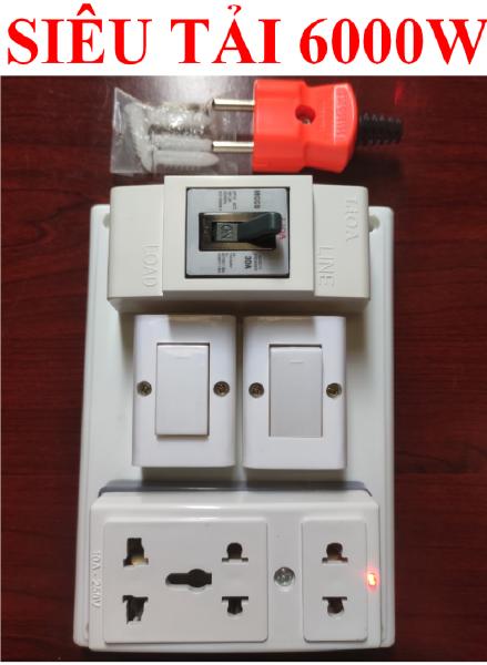Bảng giá Bảng điện nổi LIOA 6000W SIÊU CHỊU TẢI cao cấp + BH 03 năm + 02 Công tắc + 01 Ổ cắm SIÊU TẢI 6000W lò xo chống giãn + Đi dây liền khối bắt cốt sẵn sàng + Đi dây liền khối bắt cốt sẵn sàng + Bộ ốc vít lắp đặt (bộ 01 sản