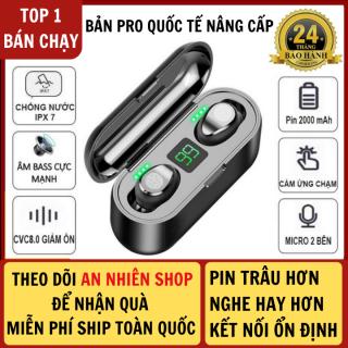 Tai Nghe Bluetooth AMOI F9 Phiên Bản Pro Quốc Tế Nút CẢM ỨNG Kén Sạc 2000 Mah Âm Thanh Sắc Nét - Tai Nghe Bluetooth Không Dây Amoi F9 Pin Trâu - Tai Nghe Buetooth pin trâu, âm bass mạnh thumbnail