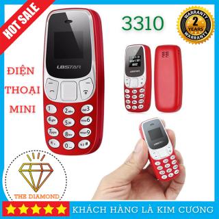 Điện Thoại Giá Rẻ - Điện Thoại Mini Siêu Nhỏ 3310MINI - 2 Sim 2 Sóng, Hỗ Trợ Khe Cắm Thẻ Nhớ, Nghe Nhạc MP3 thumbnail