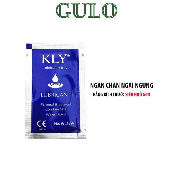 Gel bôi trơn gói KLY gốc nước tiệt trùng tạo độ trơn mượt, tăng cường độ ẩm dạng gói 5g