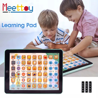Meettoy Children English Learning Tablet Toy Electronic Educational Machine Touch Talking Music Reading Tablet Pad Toys for Kids Baby Boys Girls Birthday Gift thumbnail