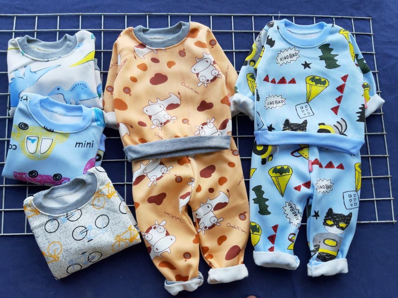 combo 5 bô ni bông tăng kem vong dâu tăm: Mua bán trực tuyến Bộ áo quần cho trẻ sơ sinh với giá rẻ | Lazada.vn
