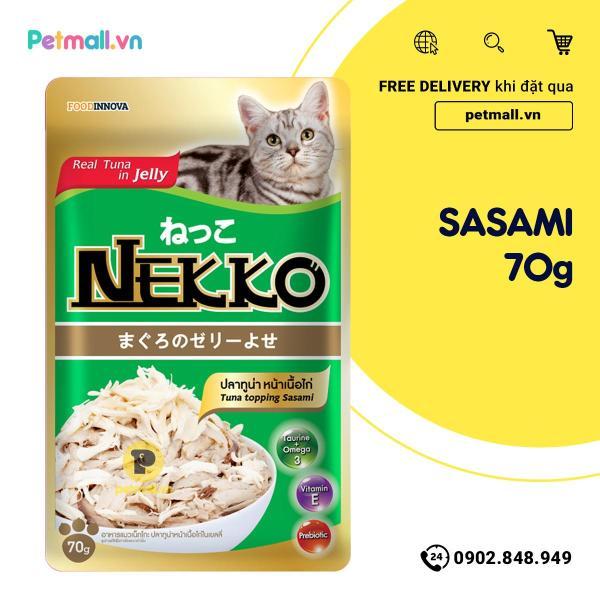 Pate mèo NEKKO Cá Ngừ & Sasami 70g - 1 hộp 12 gói
